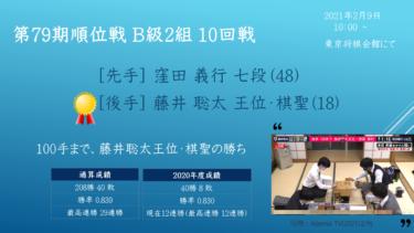 2020年2月9日 第79期順位戦 B級2組 10回戦 vs 窪田義行七段